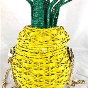 ef13b8899127 Michael Kors Bags - Michael Kors Straw Pineapple Crossbody